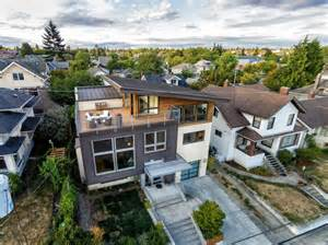 How To Remodel A House Contemporary Split Level House With Views Of Downtown