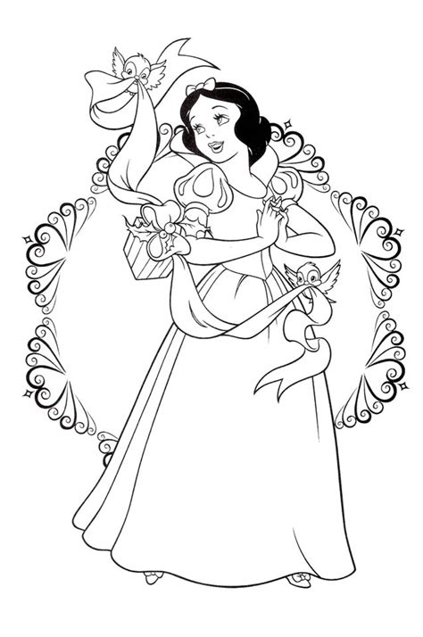 Snow White Coloring Pages 7 Coloringpagehub Princess Black And White Free Coloring Sheets