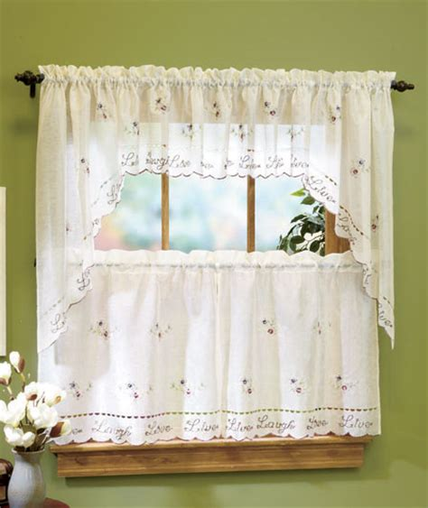 Live Laugh Valance live laugh and curtain 36 quot tier pier swag pair or valance shipping disc ebay