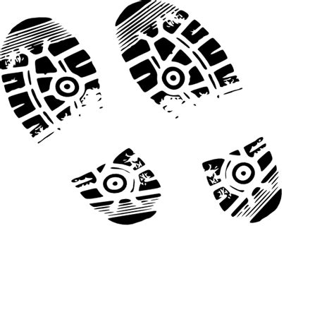 running shoe prints footprint clipart running shoe pencil and in color