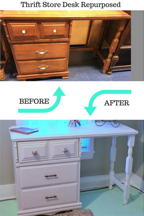 Upcycle an old desk into a vanity create and babble
