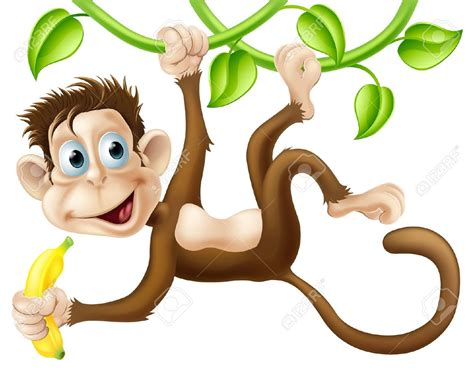 Monkilo Banana clipart monkey pencil and in color clipart monkey
