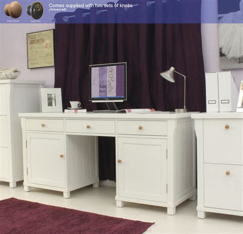 White Hideaway Computer Desk New White Painted Furniture Large Hideaway Office Pc Computer Desk Ebay