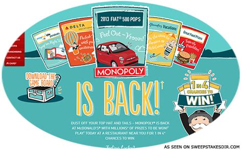Mcdonalds Monopoly Instant Win Prizes Canada - playatmcd ca canadian monopoly game at mcdonald s sweepstakes directory