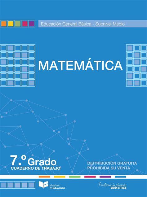 el gobierno promulg 243 los nuevos valores de las calam 233 o matematica cuaderno 7