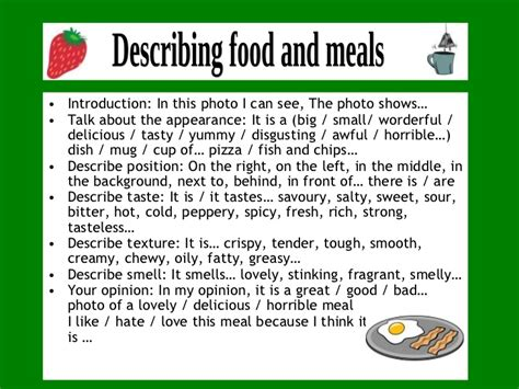 Descriptive Essay Food by Describing Food