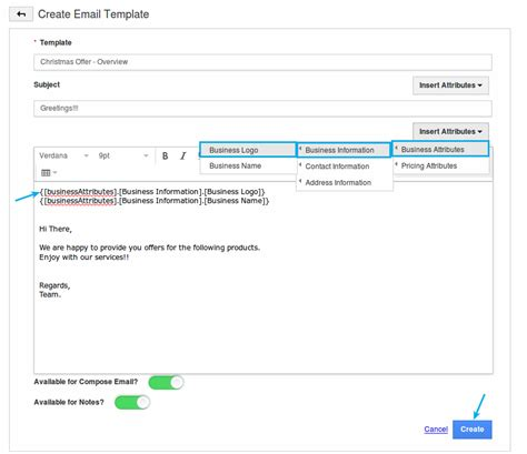 building email templates create email templates in pricing app apptivo answers