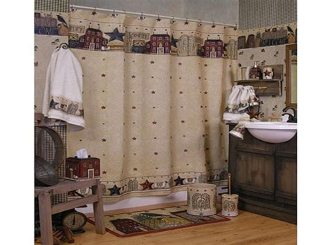 Country rustic curtains, primitive country bathroom shower