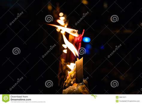 fiamma candela la fiamma della luce della candela immagine stock