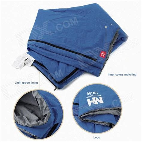 naturehike lw180 envelope style cing sleeping bag blue grey free shipping