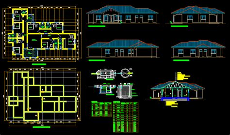 guest house dwg section  autocad designs cad