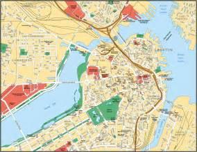 map of boston city maps of united states planetolog
