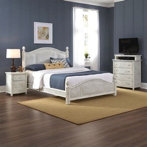 3 piece white bedroom set 3 piece wicker king bedroom set in white 5548 6020
