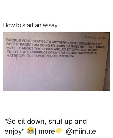 How To Start An Essay by How To Start Essay