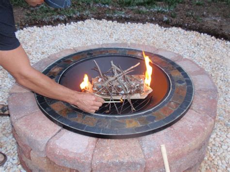 how to make a simple fire pit in your backyard how to build an easy to clean fire pit and then make italian style s mores on it