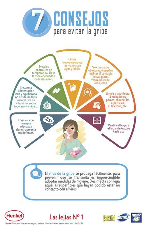 infografia  consejos  evitar la gripe prevencionar tu portal sobre prevencion de