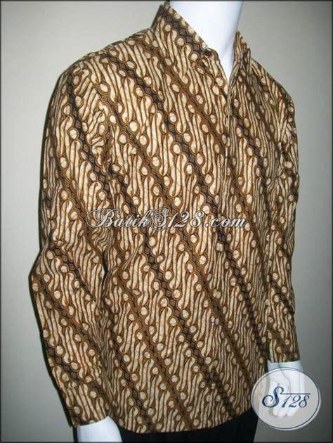 Laris Baju Kemeja Cowok Pria Batik Biru Grosir 100 gambar batik pria lengan panjang murah dengan jual