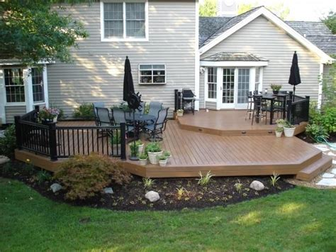 Backyard Deck Ideas Ground Level 1000 Ideas About Platform Deck On Decks