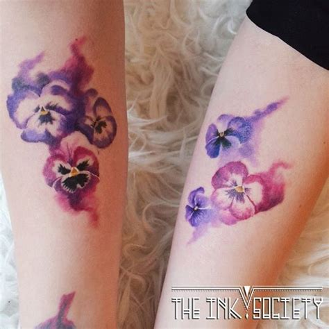 watercolor tattoo violets 125 best images about tattoos on of the