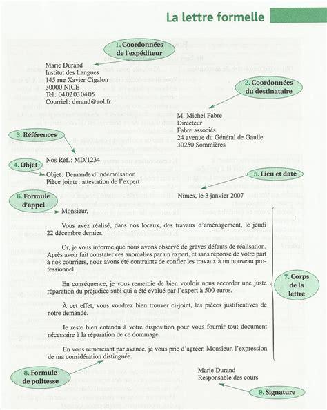 Modeles De Lettre Formelle Lettre Formelle Delf Le Fran 231 Ais 224 Quot La Orden Quot