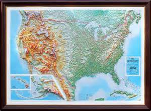 raised relief map of the united states