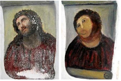 ecce homo spanish edition spanish fresco ruined by elderly do it yourself restorer