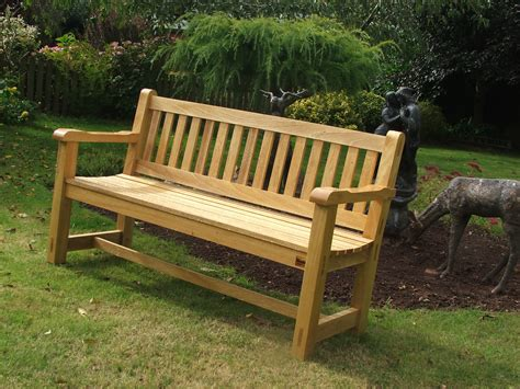 Hardwood Garden Bench   Idigbo   The Wooden Workshop