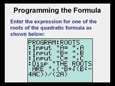 calculator quadratic formula program how the ti 84 plus became americas most popular graph