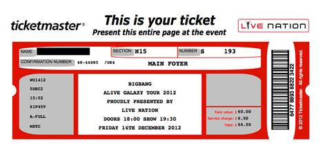concert ticket template lisamaurodesign