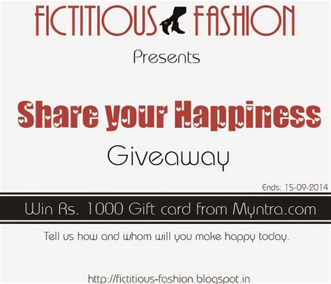 Myntra Gift Card - fictitious fashion the shining giveaway