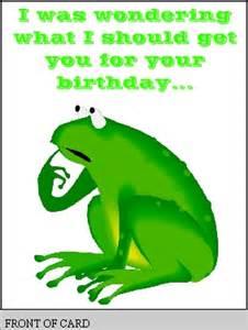 free printable birthday card with frog free printable greeting card