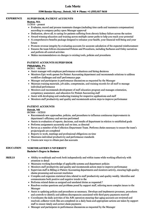 Patient Account Specialist Sle Resume by Patient Account Specialist Resumes Pros And Cons Of Blogging Career Development Weekly