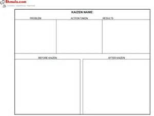 kaizen powerpoint templates kaizen before and after template