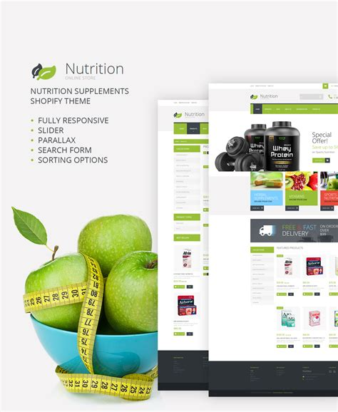 shopify themes supplement nutritionsupplements shopify theme 52255
