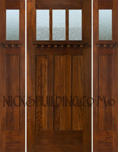 Craftsman Style Exterior Door Craftsman Style Doors And Sidelights