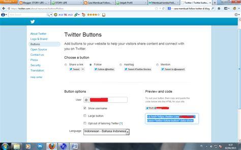 cara membuat akun twitter yang banyak cara membuat tombol follow twitter di blog makan info