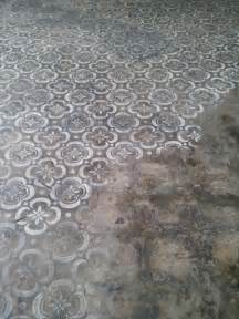 concrete floor stencils design ideas