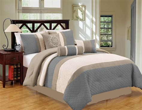 taupe bedding sets 7 piece queen gray taupe comforter set ebay