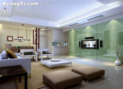 Living Room With Glass Wall by Pallens Paint The Living Room Glass Wall Effect Of The
