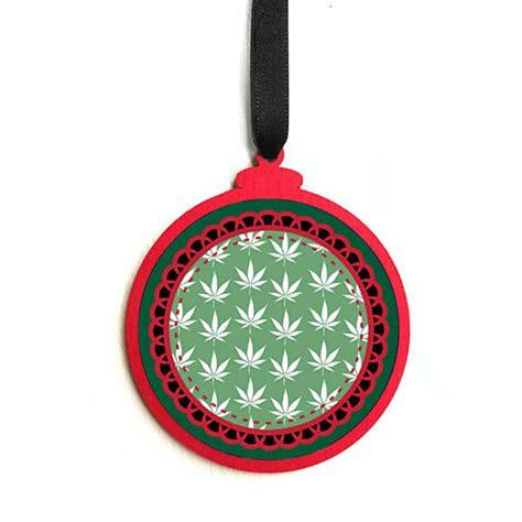obscene christmas ornaments buy wooden and green marijuana leaf ornament pot leaf stoner pothead rude