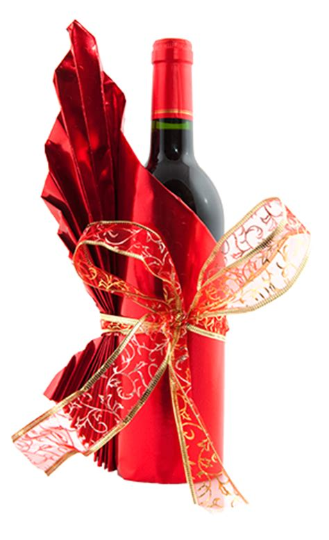 how to wrap a wine bottle as a gift