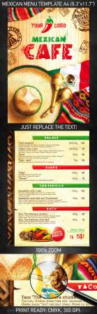 mexican menu template free 25 high quality restaurant menu design templates web
