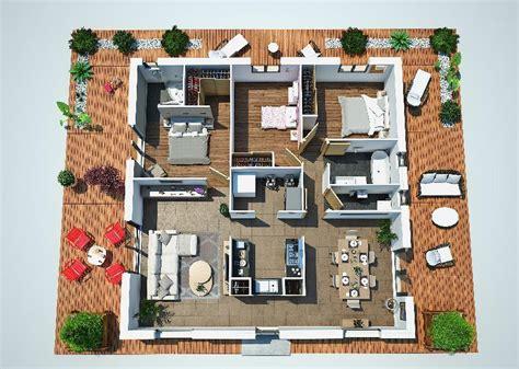 planos de casas en 3d fantastico plano en 3d de casa de una planta y tres