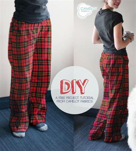 diy pajama diy flannel camelot fabrics last minute