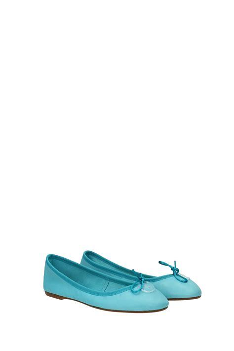 ballet flats baiguera leather light blue