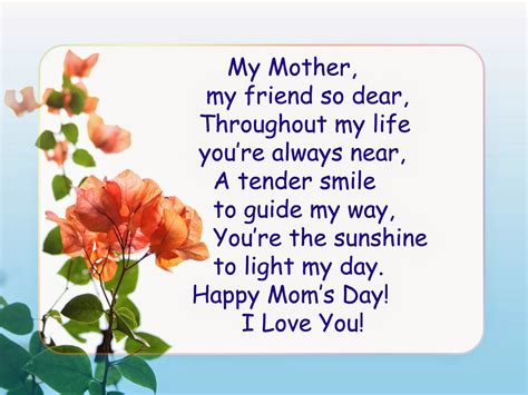 mothers day ideas gift poems cards wishes and quotes