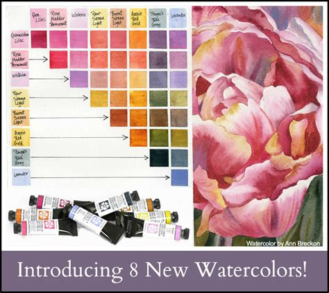 new color collection chart nicole s blog introducing 8 new daniel smith watercolors