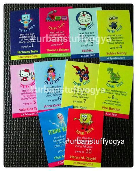 Kartu Ucapan Terima Kasih Untuk Souvenir Kut40x70 jual kartu ucapan terima kasih utk souvenir goody bag