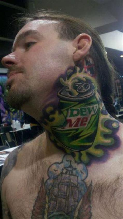 tattoo on neck dangerous worst neck tattoos maybe they should try a turtleneck