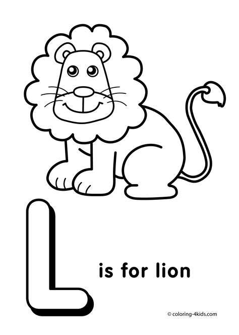 letter l coloring pages getcoloringpages